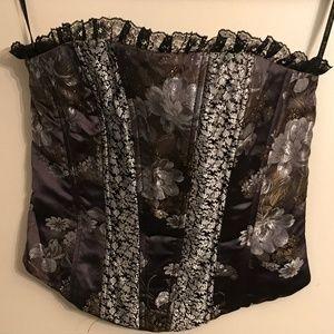 Jessica McClintock Collection Zipper Corset Top 4